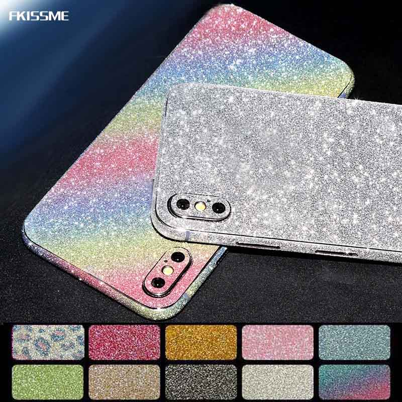 Glitter Bling Diamond Full Body Protector Cover Phone Case Sparkly Film Sticker For iPhone 7 8 Plus X XS MAX XR 6 6S Plus 5 5S
