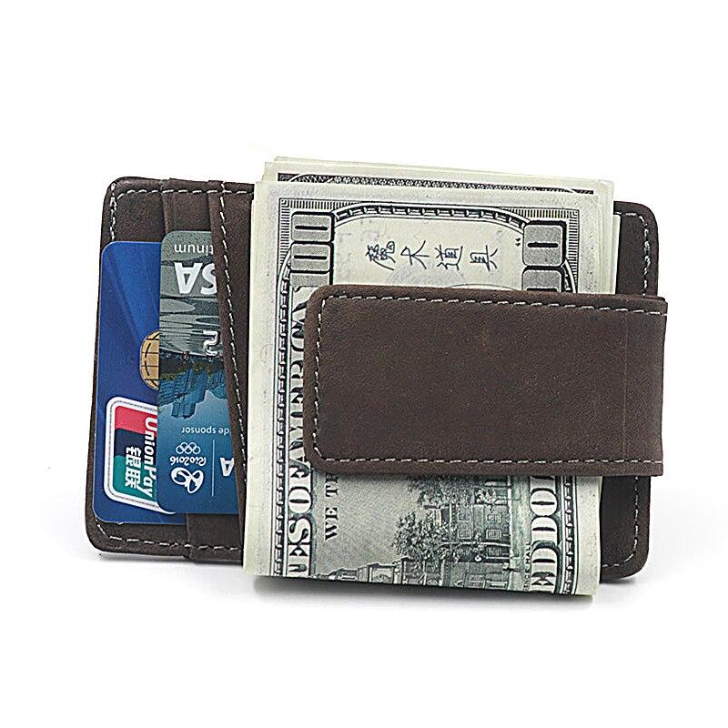 mini carteira braçadeira para cartão Color : Brown, grey
