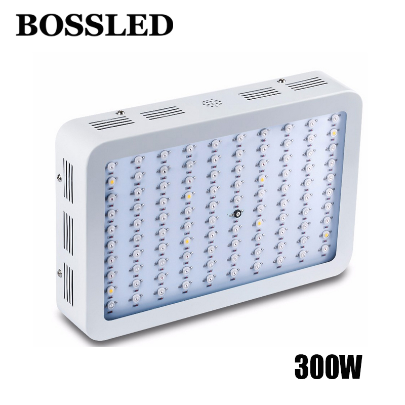 LED grow Light 300W Full Spectrum Growth lamp panel best For indoor greenhouse Flower Plants Vegetative growing365-750nm best full spectrum 300w led cultivate light for hydroponics greenhouse grow tent led lamp suitable for all plant growth 85v 265v