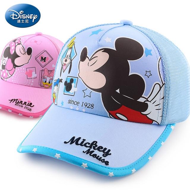 Disney children hat mickey mouse cap minnie cartoon kids hats outdoor wear  cotton Adjustable breathable Visor b4c2cfa6733f