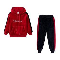 Kinder Kleidung 2019 Herbst Winter Kleinkind Mädchen Kleidung Mit Kapuze 2Pcs Outfit Anzug Kinder Kleidung Trainingsanzug Für Mädchen Kostüm Sets