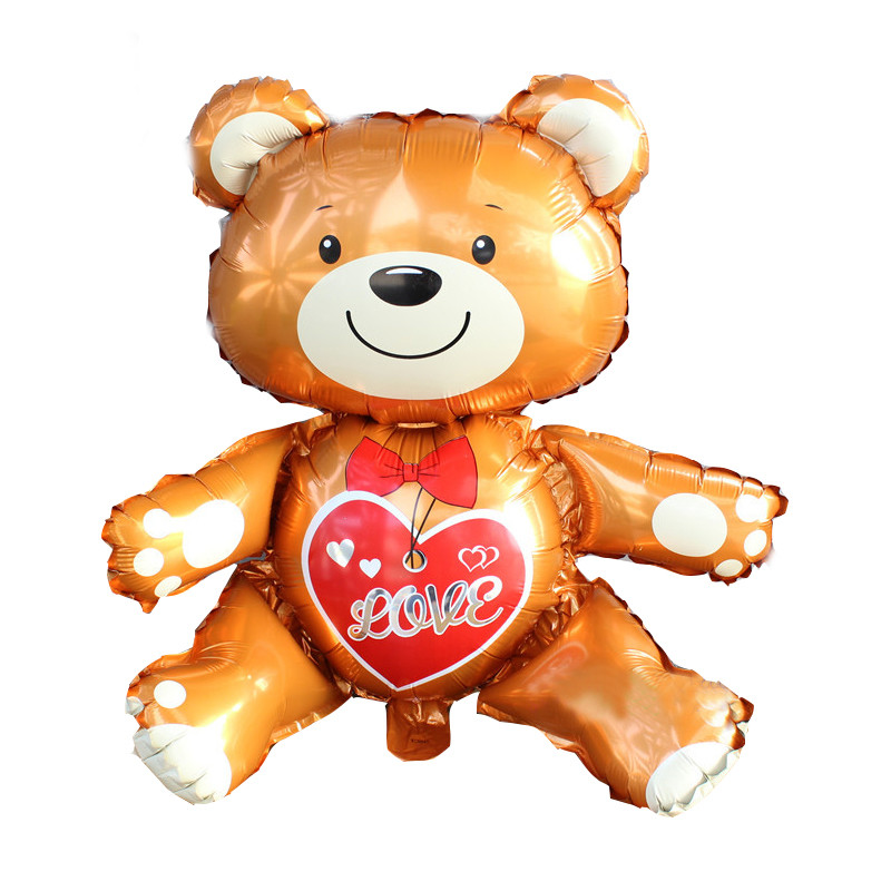 Lovely 3D Bear Foil Balloons Baby Shower Decoration Helium Balloon Happy Birthday Balloons Inflatable Toys Air Ball Party