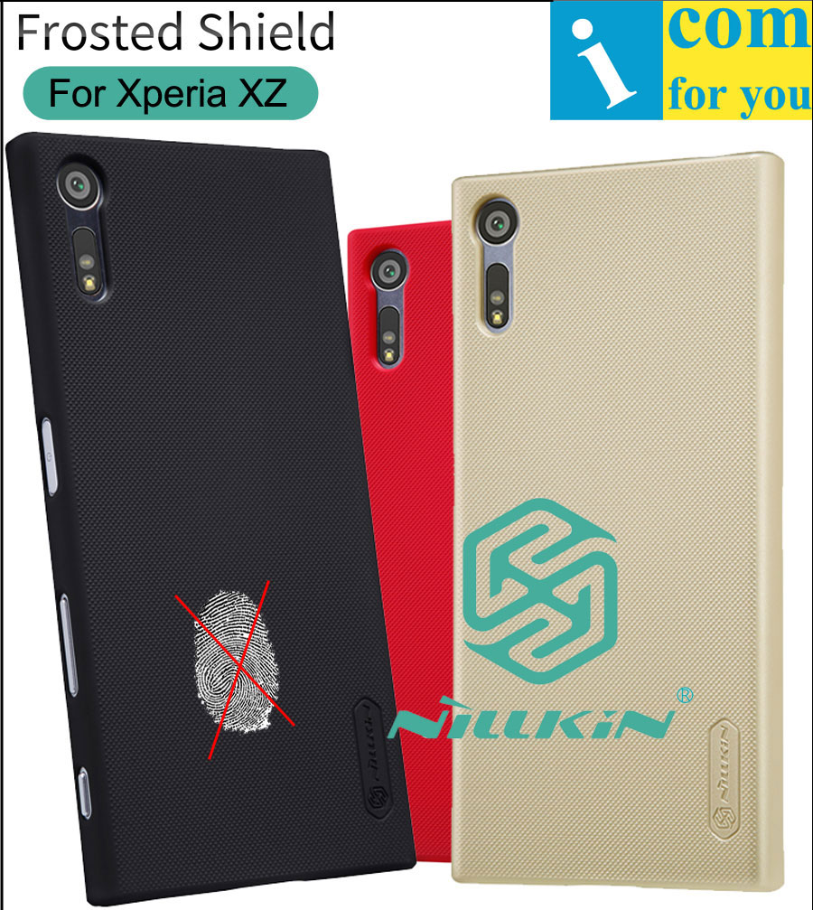 Nillkin Frosted Cover Case For Sony Xperia XZ XZS Plastic Hard Back Protective Shield + Screen film F8331 F8332 G8232