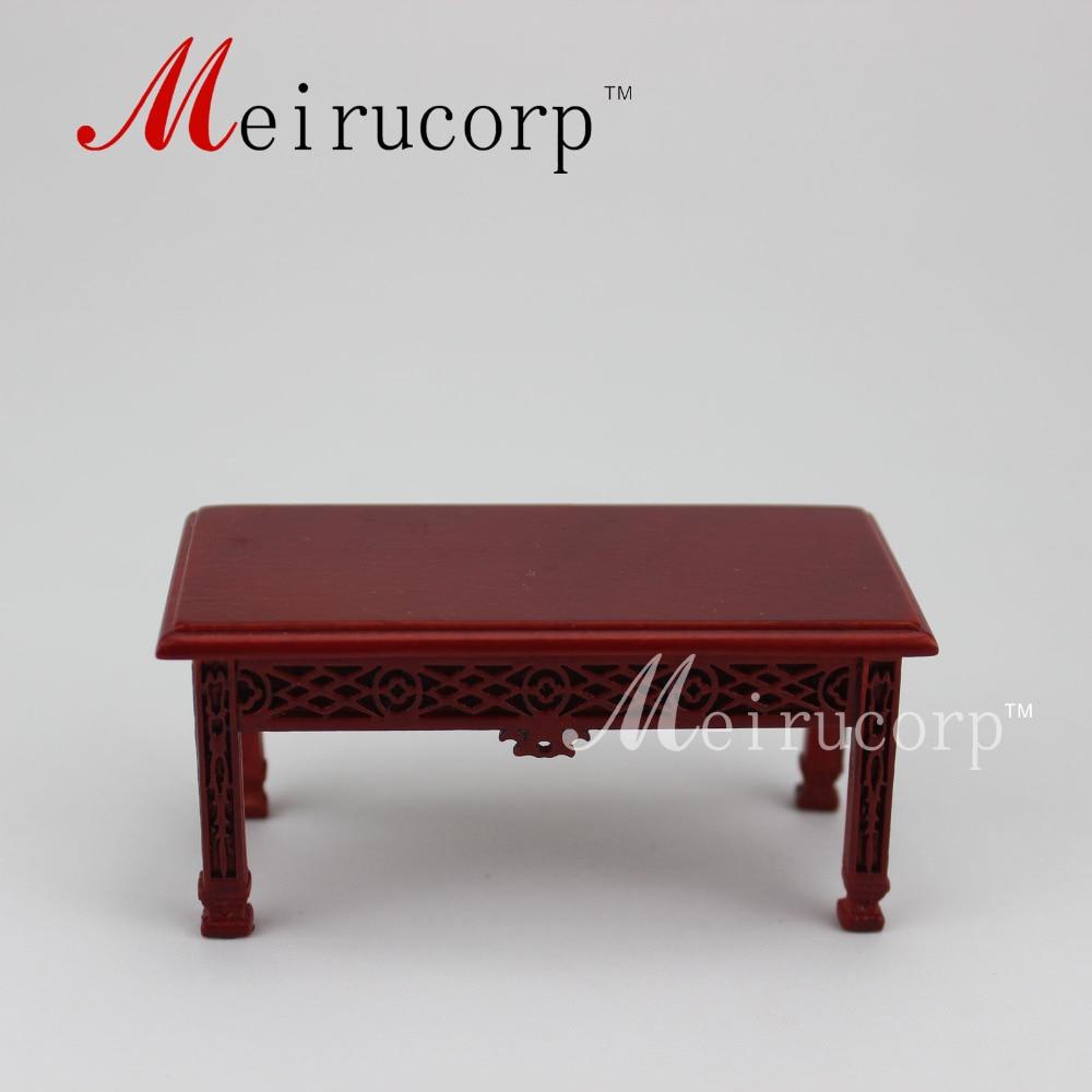 Dollhouse Fine miniaturní nábytek v měřítku 1:12Elegant Ručně vyřezávaný čajový stůl