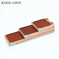 KOOLASON 120 240 360MM Computer Laptop Water cooling copper heat exchanger radiator fan Heat sink ultra dense fin G1/4