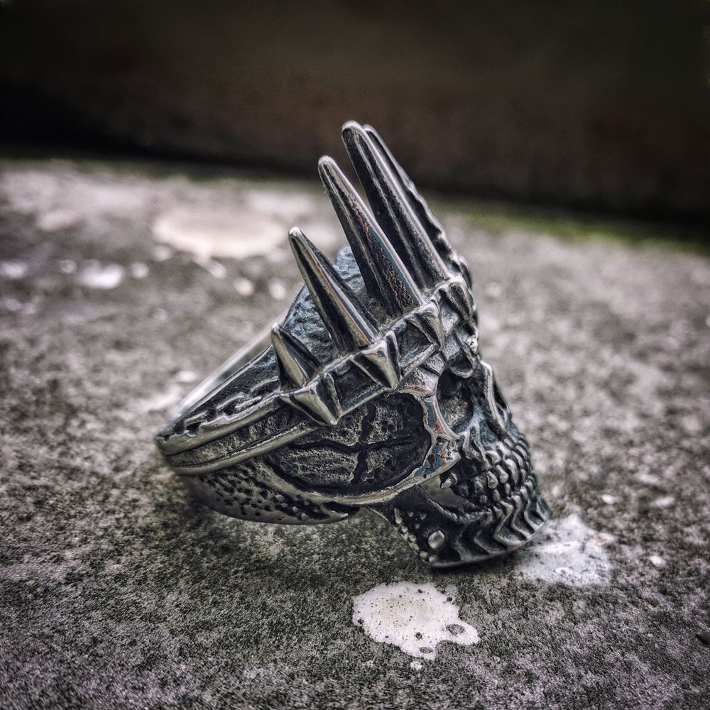 EYHIMD Biker-Rings Jewelry Crown Skull Punk 316l-Stainless-Steel Nobility-King Mens Classical