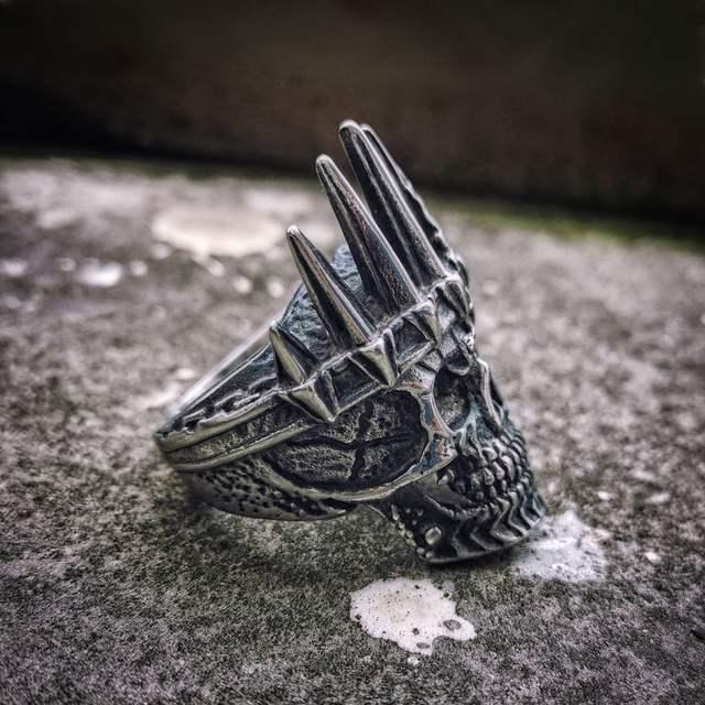 STAINLESS STEEL KING CROWN SKULL RINGS
