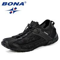 BONA 2018 Summer Sneakers Breathable Men Casual Shoes Fashion Men Shoes Tenis Masculino Adulto Sapato Masculino Men Leisure Shoe
