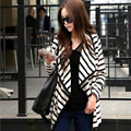 New Fashion 2016 Women Ladies Long Sleeve Open Stitch Striped Spring  Casual Cardigan Tops Blouse Jacket Outerwear B105