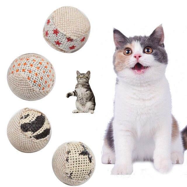 4 pz/pacco 5 centimetri Divertente Interactive Cat Giocattoli Diametro della Sfe