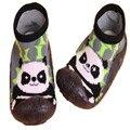 2 Unids/lote de Las Niñas de Chicos Primeros Caminante Infantil Calcetines Con Suela De Goma Antideslizante Zapatos de Interior Del Piso Del Niño Del Bebé ShoesLMY209