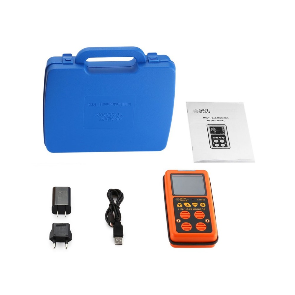 ST8900 Mini 4 in 1 Digital Gas Detector O2 H2S CO LEL Handheld Gas Analyzer Air Monitor Gas Leak Tester Carbon Monoxide Meter bh 4s 4 in 1air quality monitor gas analyzer air tester portable compound gas detector o2 ex co air quality monitor