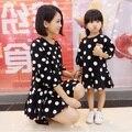 Familia Conjunto de moda de Lunares Vestidos de Madre E Hija Madre e Hija Vestido de Ropa Set Familia Padres E Hijos Ropa de la Familia YE4