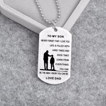 Aile kolye paslanmaz çelik etiket benim SON hediyeler-kızım her zaman aşk baba anne kolye kolye anne baba hediye