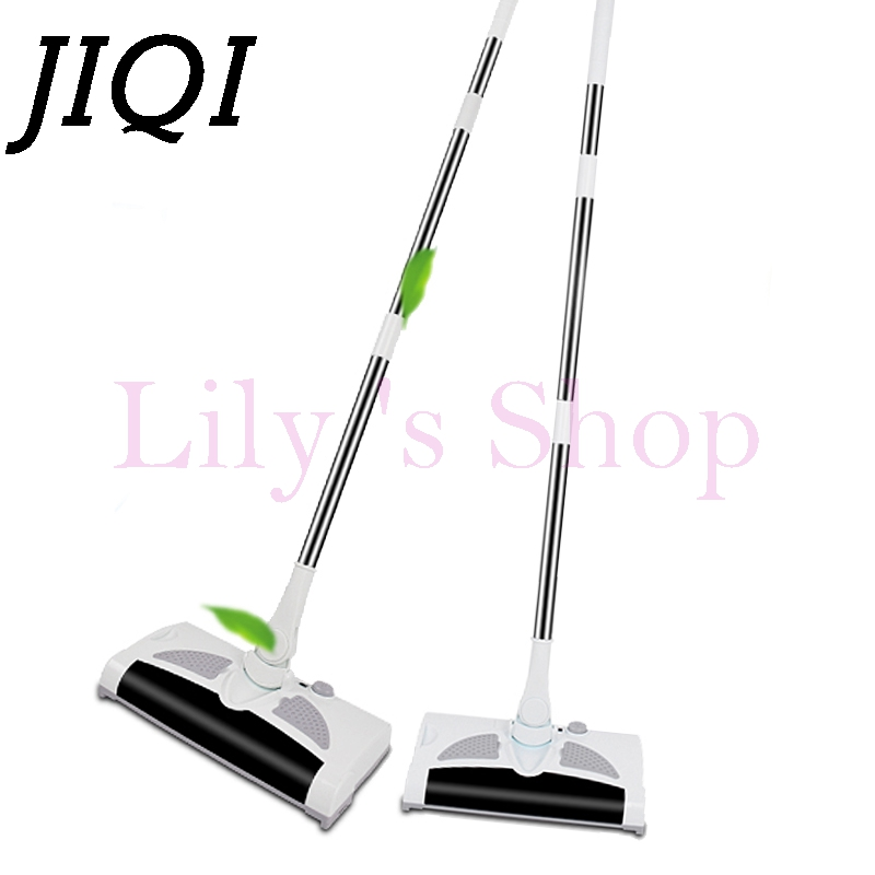 JIQI wireless Rechargeable electric Vacuum Cleaner Hand Cordless mopping sweeper drag sweeping Broom mop robot Dust Collector EU  w s018 2 in 1 swivel cordless electric robot cleaner