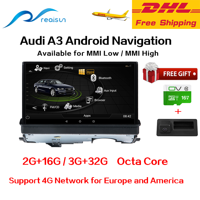 realsun 7 inch audi a3 mmi standard mmi high android 6 0 gps navigation 3g ram 32g rom octa core. Black Bedroom Furniture Sets. Home Design Ideas