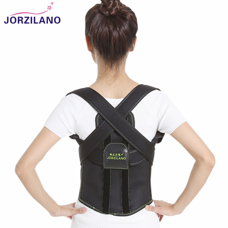 JORZILANO Adjustable Posture Corrector Corset Back Support Brace Belt for Student Adult Back Therapy Braces Supports Orthopedic free size o x form legs posture corrector belt braces