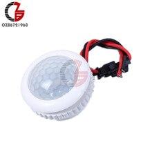 Переменный ток 220 В, индукционный переключатель человека, светодиодный потолочный светильник, PIR датчик движения, светильник с выключателем, ИК Инфракрасная лампа, 3-6 м, срабатывание 20 с, задержка 50 Гц