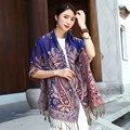 New 2016 Popular Decoration Warm Scarf Shawl Office National Wind Restoring Ancient Ways Cotton Long Amphibious