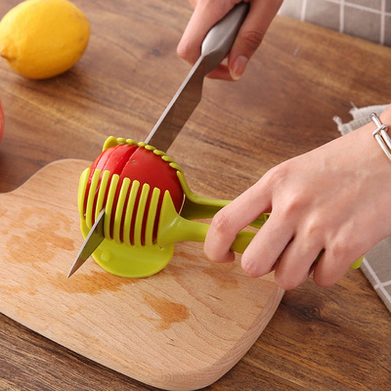 Plastic Tomato Slicer Potato Fruits Cutter Tool Onion Shreadders Lemon Cutting Holder Cooking Tools Kitchen Accessories (5)