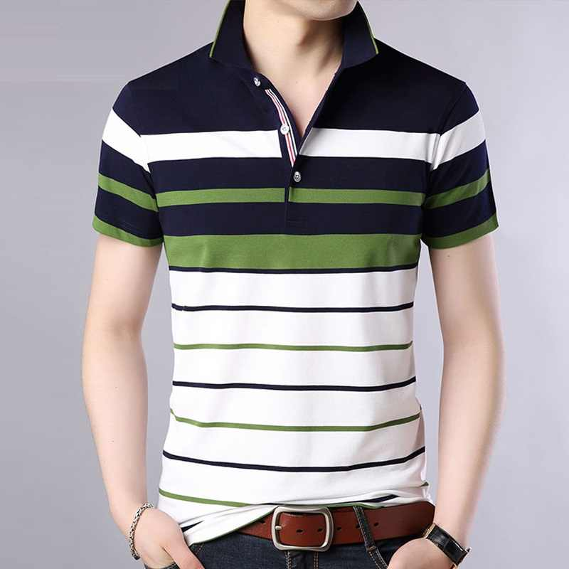 Summer polo shirt men Striped Classical causal Brand Short Sleeve polos para hombre Men clothes Male 2019 new