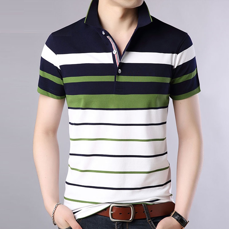 Men clothes 2018 new Polo men Striped Classical causal polos dress