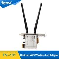 Fenvi Brand New MINI PCI E 1x Express Wireless WLAN Adapter 2x 6DBI Antenna PCI E