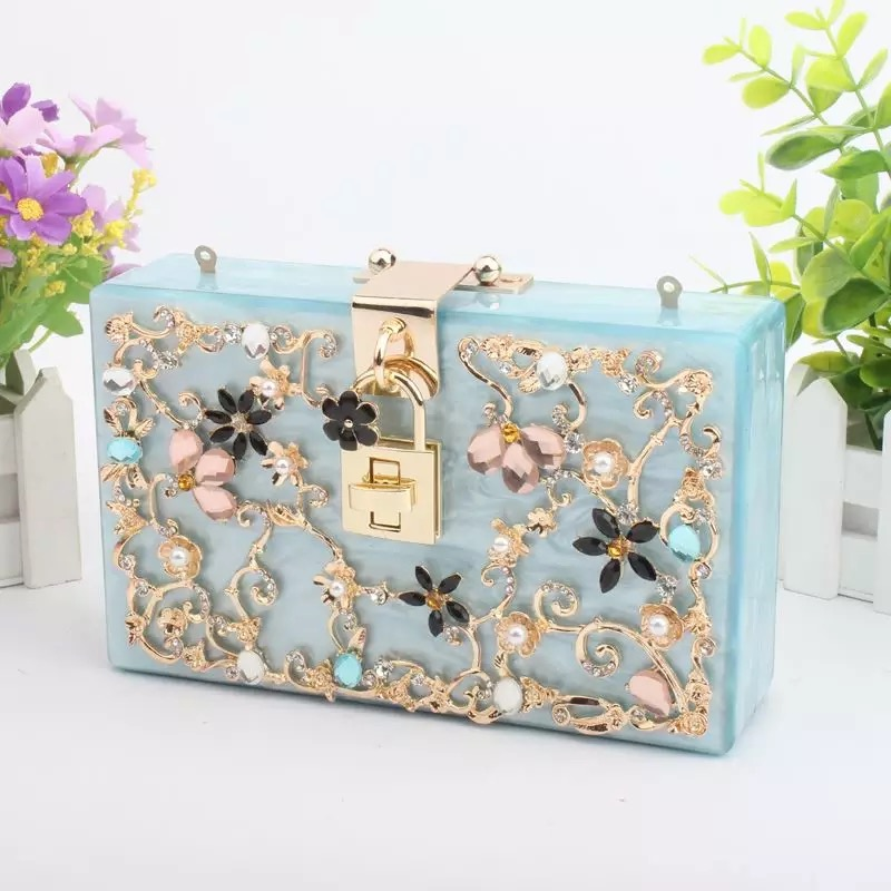 Carved Diamonds Acrylic Women Evening Clutch Bag Fashion Women's Messenger Bag Socialite Party Clutches Bags Lady Shoulder Bags free shipping 2015 top gifts new bride rhinestone evening bags punk colored acrylic diamonds clutch bag shoulder handbags 0430