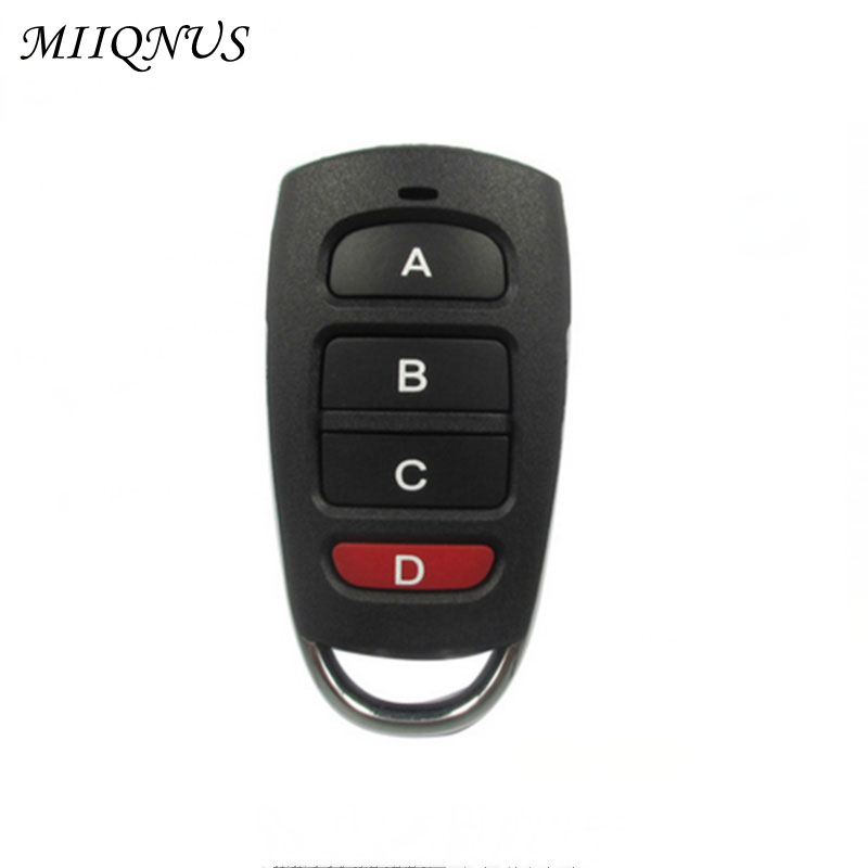 433MHz 4 buttons Remote Control touch switch Copying Transmitter Cloning duplicator Key Fob for Garage Door Opener binge elec 16 buttons remote controller 433 92mhz only work as binge elec remote touch switch hot sale