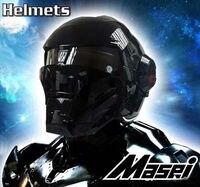MASEI Mens Motorcycle Helmets Black IRONMAN Iron Man Helmet Motorcycle Helmet Half Helmet Open Face Helmet