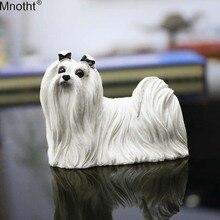 Аксессуары Mnotht, игрушки 1/6, модель мальтийской собаки, модель автомобиля, украшение, сцена, подарки из смолы для коллекции экшн-фигурок m5n