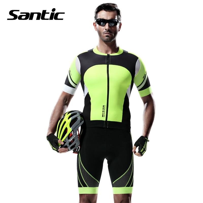 ФОТО Santic Quick Dry Reflective Strip GEL Pad Cycling Shorts Men Downhill Mountain Bike Shorts MTB Shorts Cycling Clothing 2017