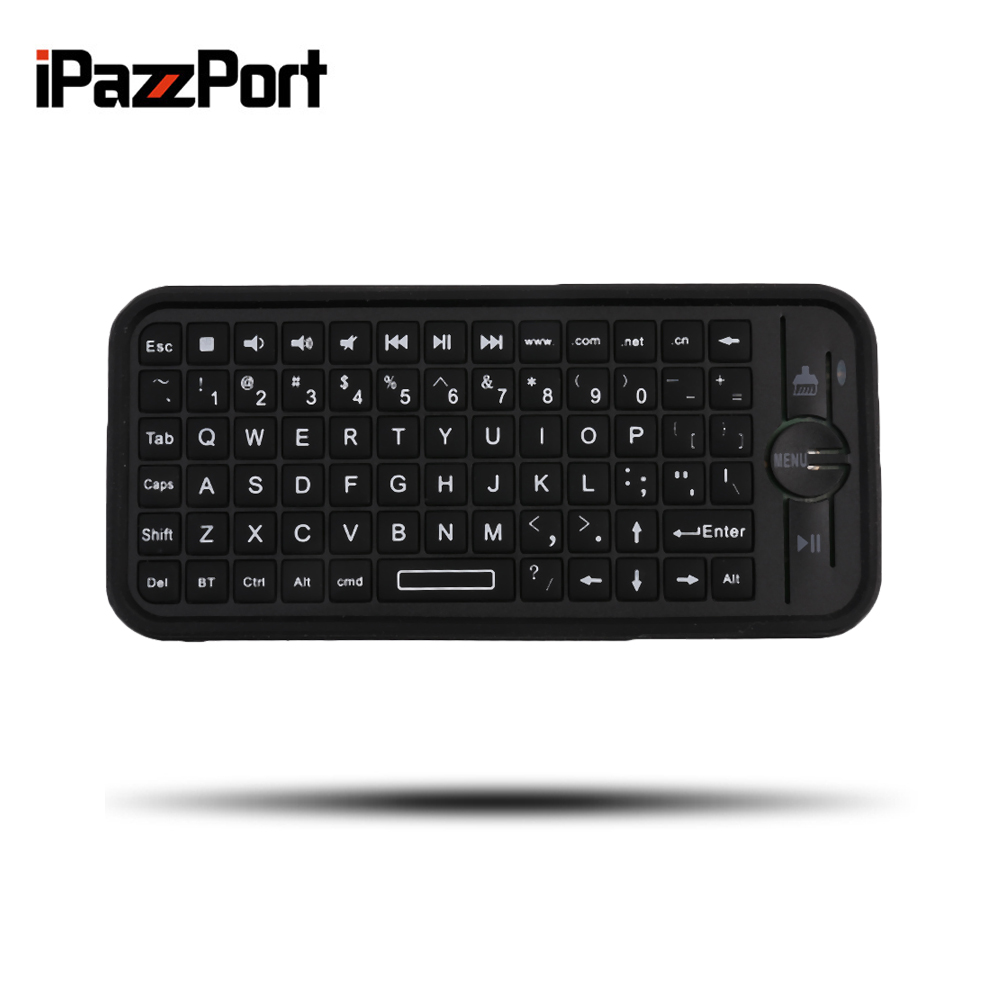 Original iPazzPort KP-810-16B Mini Size Wireless Bluetooth 3.0 Keyboard Small Portable Handheld Keyboard For Android For IOS