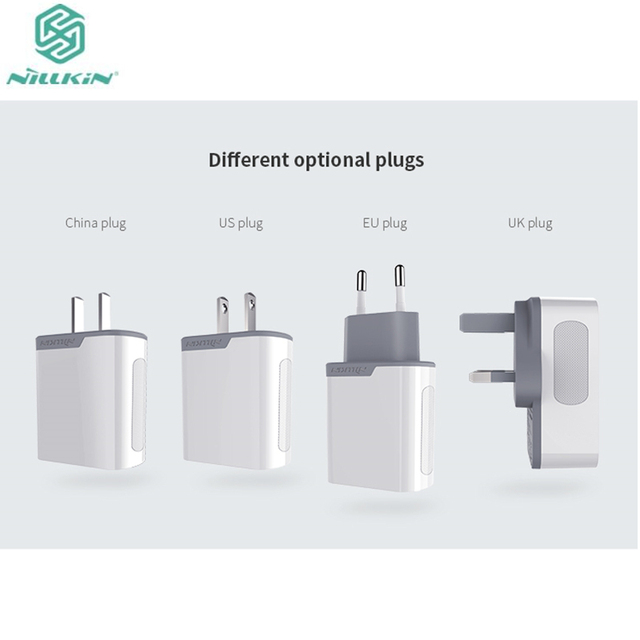 Original Nillkin Quick Charge 3.0 Charger Adapter Rapid USB Travel Wall Power Charging for iPhone 7/ 7 Plus EU Plus UK US
