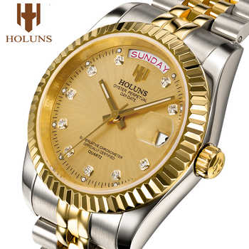 Holuns man watches 2018 brand luxury men gold quartz diamond waterproof gift dress watch relogio feminino fashion casual - DISCOUNT ITEM  0% OFF All Category