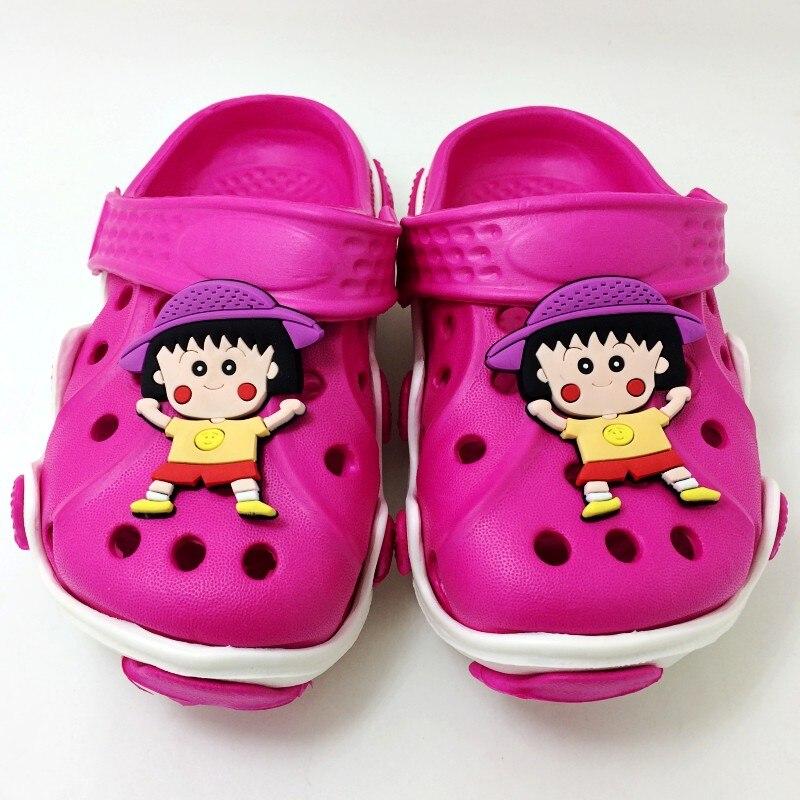Kids Girls Summer Beach Clogs Japan Cartoon Fujiya Peko Poko Kobito Sakura Momoko Children EVA Sandals Shoes