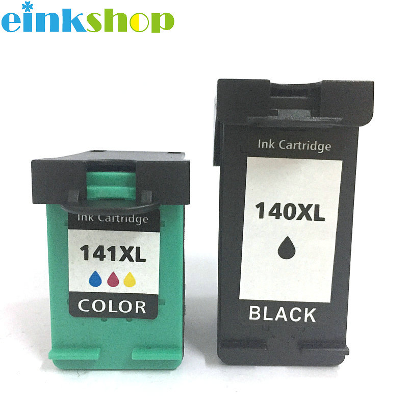 Einkshop 140xl 141xl compatible Ink Cartridge replacement for <font><b>hp</b></font> <font><b>140</b></font> <font><b>141</b></font> DeskJet D4263 D4363 C4203 C4213 C4273 C4283 C4293 C4343 image