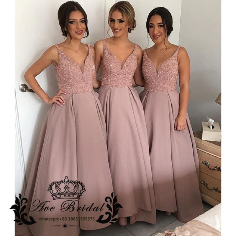 Fantástico Rosa Palo Vestidos De Dama Ornamento - Ideas de Vestido ...