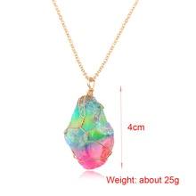 Rainbow Chakra Stone Pendant Necklace