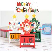 Christmas Calendar Christmas tree ornaments creative wooden blocks children learning Christmas decorations Xmas Calendar gift 35