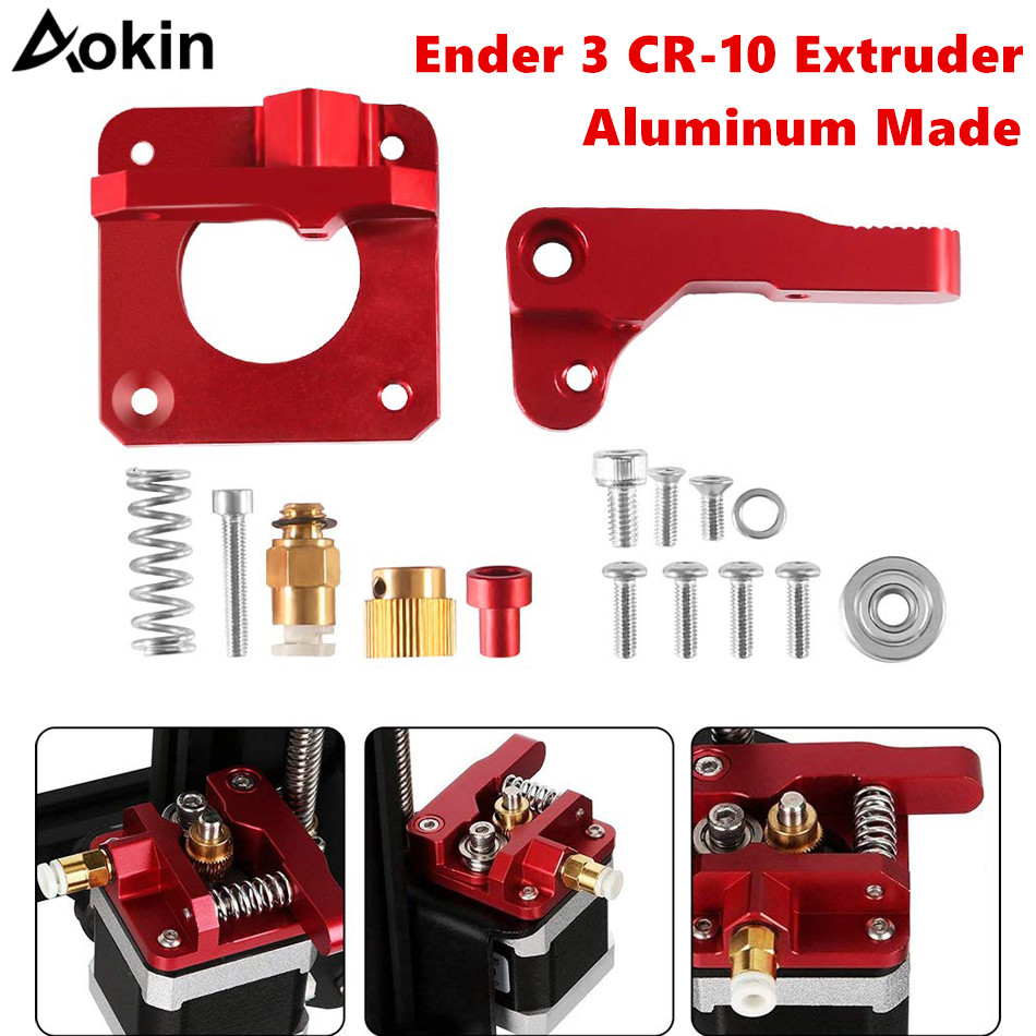 CR-10 Extruder Upgraded Replacement Aluminum MK8 Drive Feed 3D Printer Extruders for Creality Ender 3 CR-10 CR-10S CR-10 S4(China)
