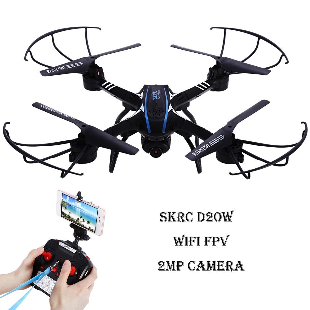 Skyc d20w Drone с Камера Wi-Fi FPV-системы 2mp HD Quadcopter 2.4 ГГц 6 оси гироскопа headless режим вертолет 3D опрокидывание RTF Дрон