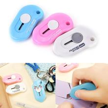 1 Pc Cute Solid Color Mini Portable Utility Knife Paper Cutter Cutting Razor Blade Office Stationery Escolar Papelaria