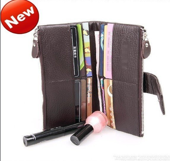 Factory Outlet Free Shipping100% Genuine Leather women&men's multifunction wallets,JJ8123