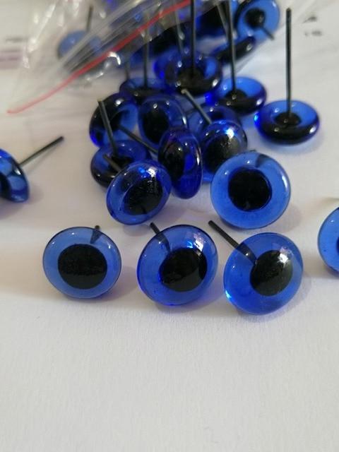 50 шт. новые позиции 3/4/5/6/7/8/9/10/11/12 мм синий цвет глаза стеклянные игрушки с pin для diy материалы для ремесел-Размер вариант