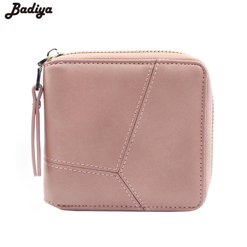 Women Ladies PU Leather Short Wallet Purse Coin Pocket Card Holders Retro Wallet Fashion Fold Women Wallet Female Carteira Bags youyou mouse fashion cute wallet cartoon embroidery pattern retro purse short section pu leather 2 fold multi card bit wallets