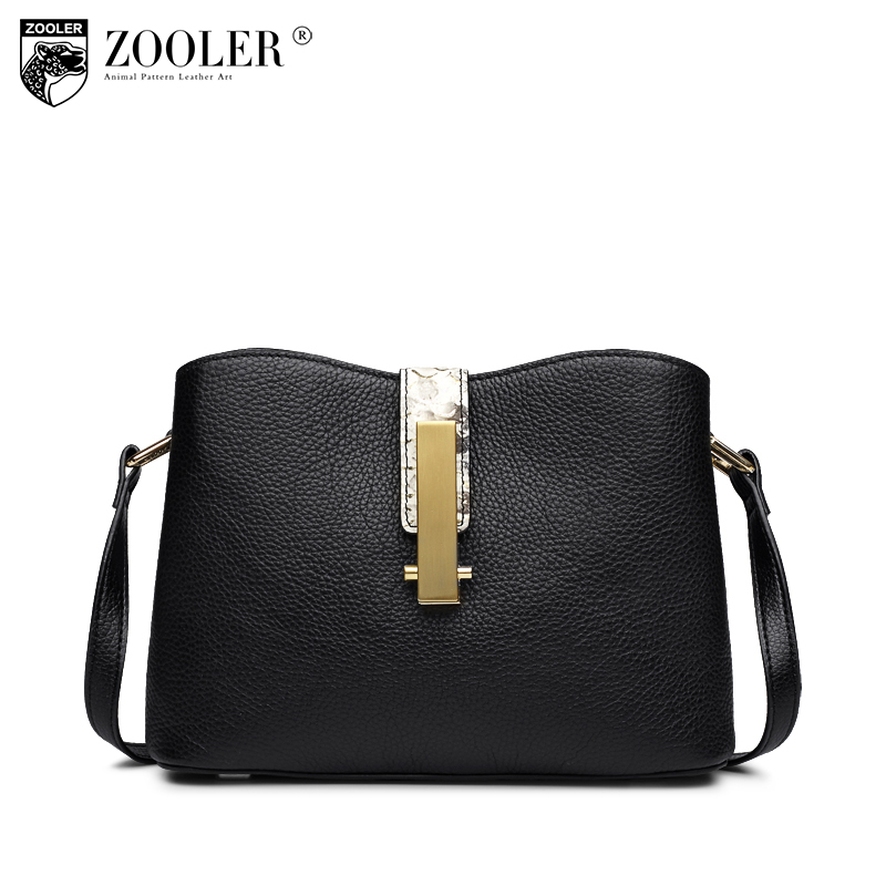 11-11 new solid shoulder bag ZOOLER 2018 Genuine leather bag woman cross body bags fashion ladies luxury  messenger bags#h151 zooler fashion genuine leather bag 2016 new women messenger bags small luxury cross body bag famous brand free shipping