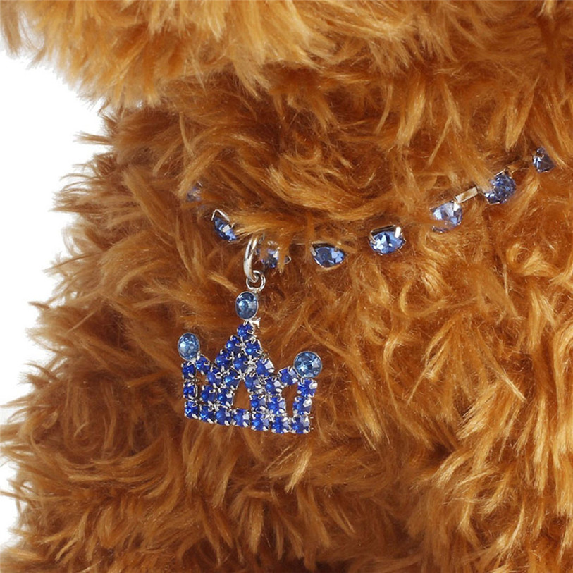 Bling Full Rhinestone Alloy Dog Necklace Collar Pendant for Pet Puppy Small Dogs Cats Party Decor Dress Up Pet Supplies 40JA22 (15)