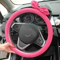 38CM Red Fashion Women Cute Butterfly Cover on steering-wheel for car free shipping