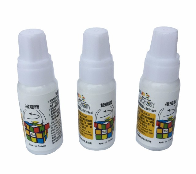 3 unids/lote Maru Cubo de Aceite 10 ml Lubricante Aceite Lubricante para la Velocidad Juguete Puzzle Cubo Mágico Mejor Lubricantes de Silicona Cubo Relacionados Envío nave